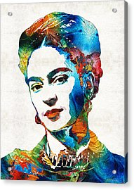 Frida Kahlo Art - Viva La Frida - By Sharon Cummings Acrylic Print by Sharon Cummings