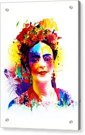 Frida Kahlo Acrylic Print by Isabel Salvador