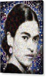 Frida Kahlo Mosaic Acrylic Print