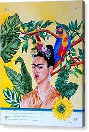 Frida Kahlo Acrylic Print by Thomas Gronowski