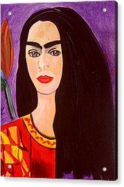 Frida Kahlo Young Acrylic Print
