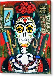 Frida With Flutes Acrylic Print by Candy Mayer