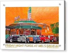 Mels Diner On Friday Night Acrylic Print by Jack Pumphrey