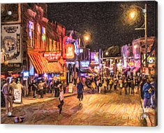 Friday Night On Beale Acrylic Print