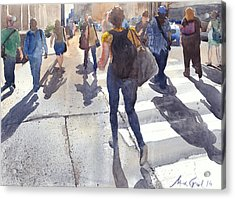 Friday Rush Acrylic Print by Max Good