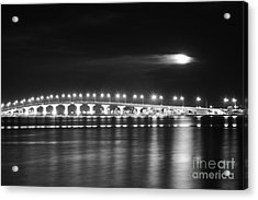 Friday The 13th At The Causeway Bw Acrylic Print