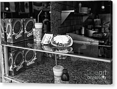 Fried Dough At Seaside Heights Mono Acrylic Print by John Rizzuto