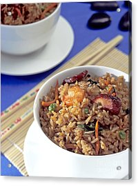 Fried Rice Acrylic Print by Tim Hester