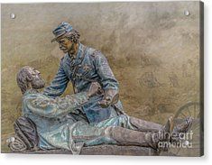 Friend To Friend Monument Gettysburg Version Two Acrylic Print by Randy Steele