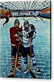 Friends And Foes Acrylic Print by Joy Bradley