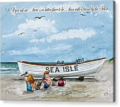 Friends By The Sea  Acrylic Print by Nancy Patterson