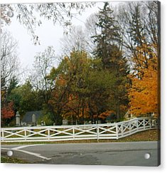 Friends Cemetery Acrylic Print by Suzanne Perry