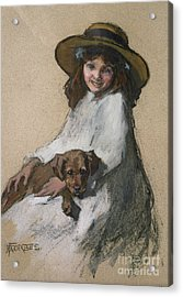 Friends Acrylic Print by Elizabeth Adela Stanhope Forbes