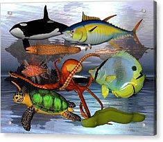 Friends Of The Sea Acrylic Print by Betsy Knapp