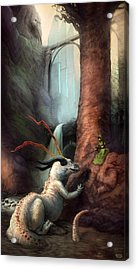 Frigga And The Water Dragon Acrylic Print by Ethan Harris