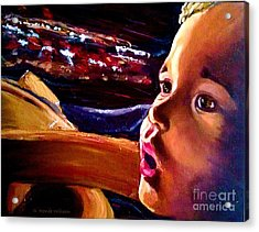 Acrylic Print featuring the painting Fright Of Dumbo by D Renee Wilson