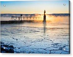 Frigid Sunrise Fog  Acrylic Print
