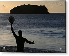 Acrylic Print featuring the photograph Frisbee Toss by Paul Miller