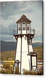 Frisco Bay Marina Lighthouse Acrylic Print by Juli Scalzi