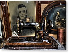 Frister And Rossmann - Old Sewing Machine Acrylic Print by Kaye Menner