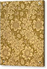 Fritillary Wallpaper Design Acrylic Print by William Morris