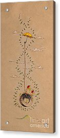 Frog And Dragonflies Acrylic Print by David Breeding