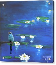 Frog And The Bluebird Acrylic Print by Gary Smith
