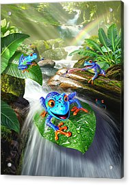Frog Capades Acrylic Print by Jerry LoFaro