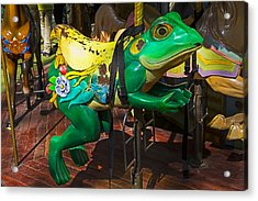 Frog Carrousel Ride Acrylic Print by Garry Gay
