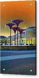 Frog Fountain Jazzed Acrylic Print