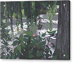 Frog Heaven Acrylic Print by Jane Croteau