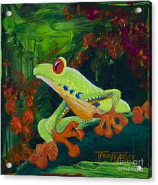 Frog Heaven Acrylic Print by Tracy L Teeter