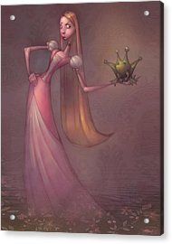 Frog Prince Acrylic Print by Adam Ford