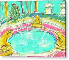 Frog Spa Acrylic Print