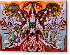 Frog Wild Acrylic Print by Omaste Witkowski