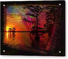Froggy Morning Sunrise Acrylic Print