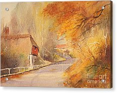 Acrylic Print featuring the painting Frogholt Kent by Beatrice Cloake