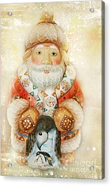 frohe Weihnachten Acrylic Print by Sharon Mau