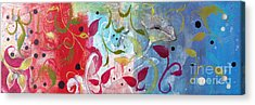 Acrylic Print featuring the painting Frolic by Robin Maria Pedrero