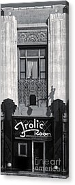 Frolic Room In Black And White Acrylic Print by Gregory Dyer