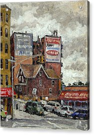 From 230th Street The Bronx Oil On Panel Acrylic Print