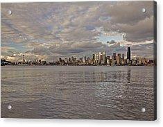 from Alki Beach Seattle skyline Acrylic Print