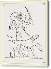 From An Egyptian Painting Acrylic Print by Litz Collection