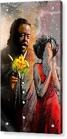 From Barry White With Love Acrylic Print by Miki De Goodaboom