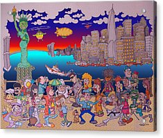 From Brooklyn With Love Acrylic Print by Paul Calabrese