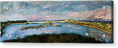 Acrylic Print featuring the painting From Coast Guard Beach To Nauset Beach by Michael Helfen