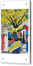 From Freetown With Peace And Love Acrylic Print by Mudiama Kammoh