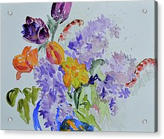 Acrylic Print featuring the painting From Grammy's Garden by Beverley Harper Tinsley