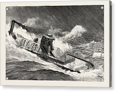 From Hong Kong To Macao In A Torpedo Boat, Full Speed Acrylic Print by English School