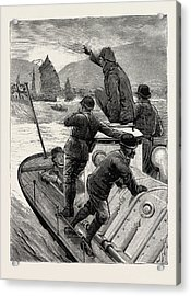 From Hong Kong To Macao In A Torpedo Boat, The Start Acrylic Print by English School